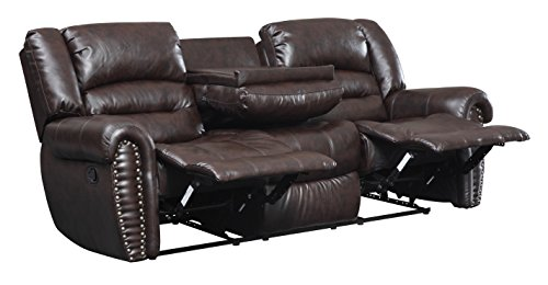 Glory Furniture Reclining Sofa, Cappuccino