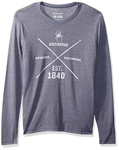 (Alma Mater NCAA Richmond Spiders Men's Long Sleeve T-Shirt, Medium, Navy)