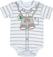 Body  Manga Curta Binóculo, TipTop, Bebê Unissex