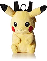 Pokemon Big Boys Pikachu Plush Backpack, Yellow, 15'