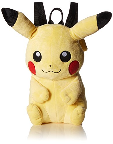 Pokemon Boys' Pikachu Plush Backpack, Yellow ()