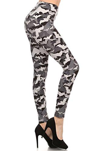 R504-PLUS Bats Print Fashion Leggings