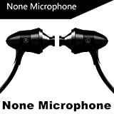 RedSonics Brand Earphone Universal M4 Earbuds Super Bass Professional Headset with Microphone for Gaming auriculares PC[ Black NO Microphone ]