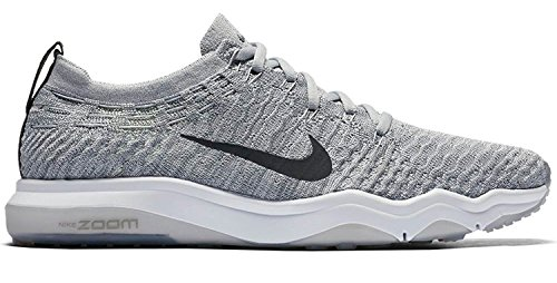 Image of NIKE Women's Air Zoom Fearless Flyknit Lux Training Shoes-Wolf Grey/Anthracite