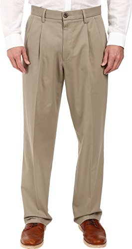 ure Khaki D4 Relaxed Fit Pleated Timberwolf Stretch 34 36 ()