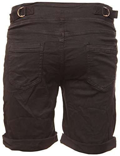 Cotton BASIC Bermuda Schwarz de Stretch Shorts Apxpg8SYc1