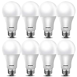 40W Equivalent LED Light Bulb,A19 Shape, 5000K Daylight(Natural White), E26 Medium Base, Non-Dimmable LED Light Bulb,450lm, UL Listed, 8-Pack