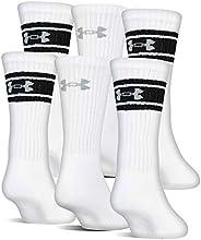 Under Armour Unisex-Adult Cotton Crew Socks, 6-pairs