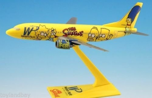 Flight Miniatures Western Pacific Bart Simpson Boeing 737 1:200 Scale The Simpsons Display Model with - Miniature Western