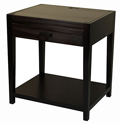 Casual Home 649-23 Notre Dame Nightstand with USB Ports-Espresso (Notre Dame Tables)