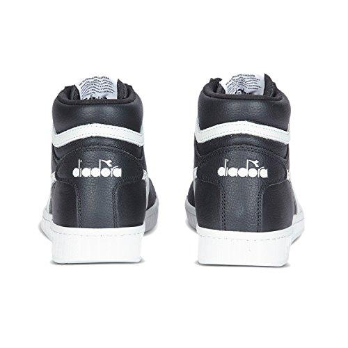 Diadora Herren Game L High Hohe Sneaker C1092 - SCHWARZ-WEISS-SCHWARZ