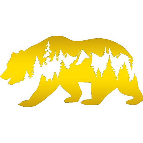 - NBFU DECALS Bear Wildlife (Metallic Gold) (Set of 2) Premium Waterproof Vinyl Decal Stickers for Laptop Phone Accessory Helmet Car Window Bumper Mug Tuber Cup Door Wall Decoration
