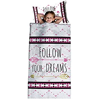 """Limited Too 'Follow Your Dreams' Slumber Set with 30"""" x 60"""" Slumberbag and 12"""" x 18"""" Pillow"""