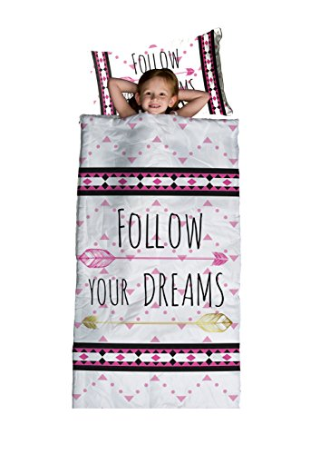 "Limited Too 'Follow Your Dreams' Slumber Set with 30"" x 60"" Slumberbag and 12"" x 18"" Pillow"