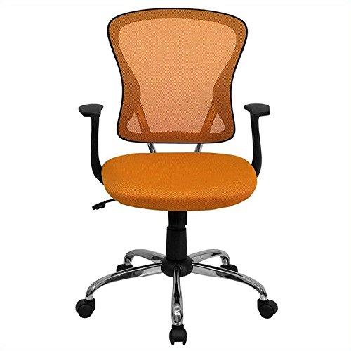 Flash Furniture H-8369F-ORG-GG Mid-Back Orange Mesh Office C