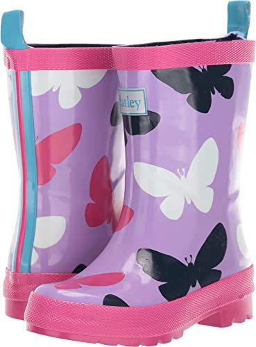 - Hatley Girls' Big Silhouette Butterflies Rain Boots, 1 US