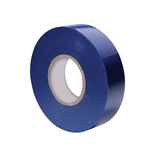 Vinyl Electrical Tape, 3/4-Inch x 66 Ft Roll, UL Listed, Blue (1 Pack) Blue Vinyl Electrical Tape