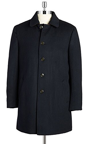 RALPH LAUREN Men's 3/4 Classic-Fit Down-Filled Wool Overcoat (46 Regular, Navy) by RALPH LAUREN