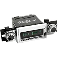 RetroSound HC-118-53-73 Hermosa Direct-fit Radio for Classic Vehicles (Chrome Face & Buttons and Chrome Bezel)