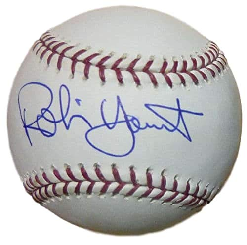 Robin Yount Autographed/Signed Milwaukee Brewers OML ()