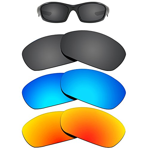 Kygear Replacement Lenses Different Colors for Oakley Straight Jacket 2007 Sunglass Polarized Pack of 3 by Kygear