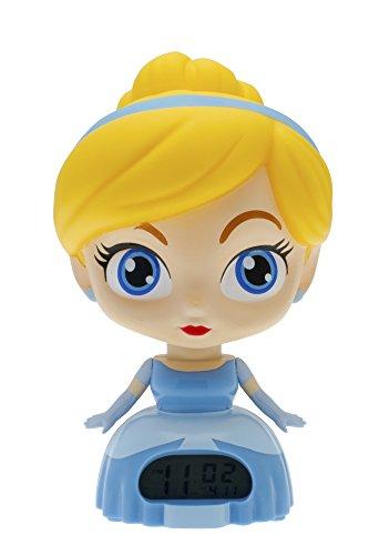Disney Princess Alarm Clock (BulbBotz Disney Princess Cinderella Kids Light Up Alarm Clock | blue/yellow | plastic | 7.5 inches tall | LCD display | boy girl | official)