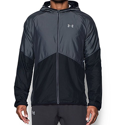Run Jacket - Under Armour Men's Storm No Breaks Run Jacket, Black/Black, Medium