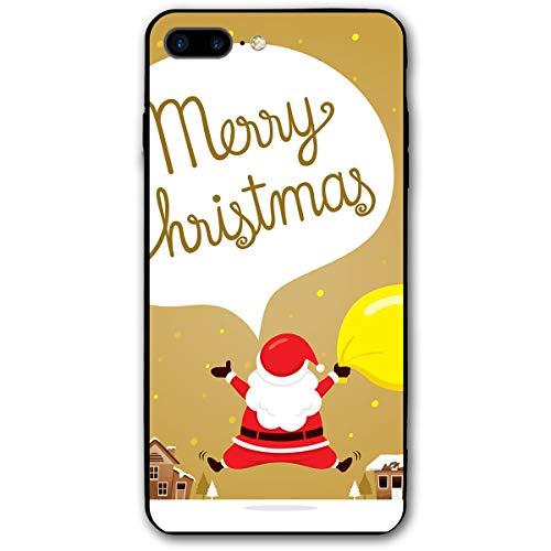 WSXEDC Custom Apple iPhone 7/8 Plus Case Santa Jumping On Snowdrift Printed Case for iPhone 8 Plus/7 Plus