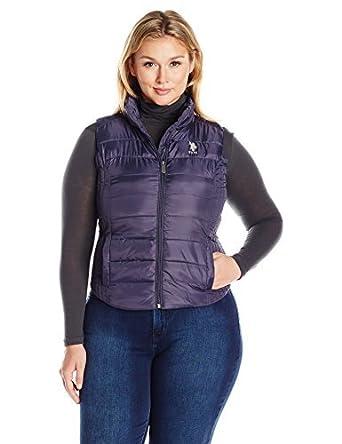 U.S. Polo Assn. para Mujer Chaleco para Ropa Sobre Ropa - Púrpura ...