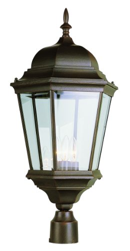 Bel Air Lighting Outdoor Post With Lanterns