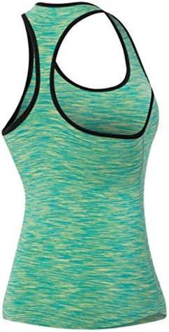 女性用トレーニングトップ - ウエストスリミング - ヨガタンクスポーツTシャツジムフィットネスランニングノースリーブベスト (Color : 3, Size : M)