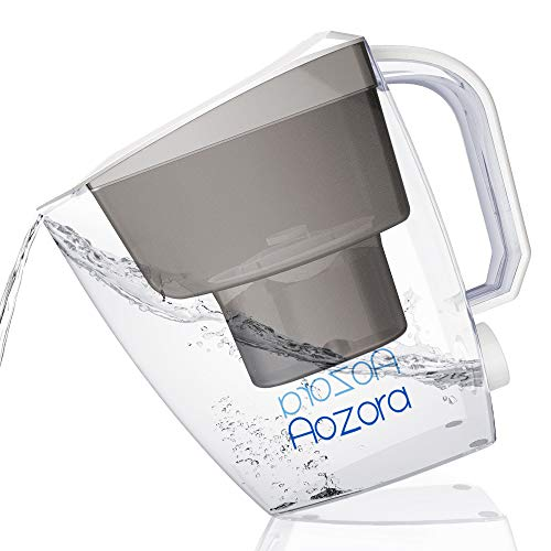 Aozora Water Filter Pitcher-15 Cup Water Purifier With Activated Carbon BPA-Free, NSF Certified, 4-Layer Filtration for for Reducing Heavy Metals, Removing Residual Chlorine & Odor
