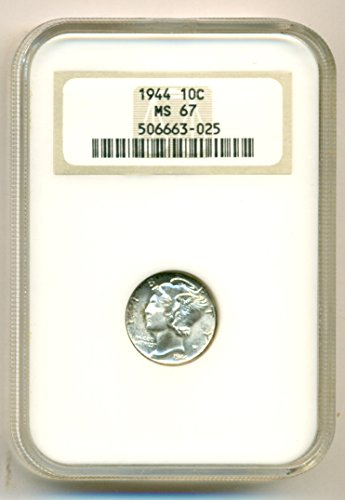 1944 Mercury Dime MS67 NGC