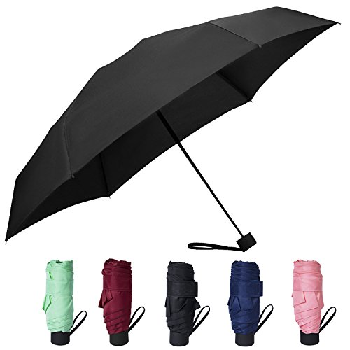 Amandir Mini Compact Outdoor Sun & Rain Umbrella Golf Women's Parasol Umbrella