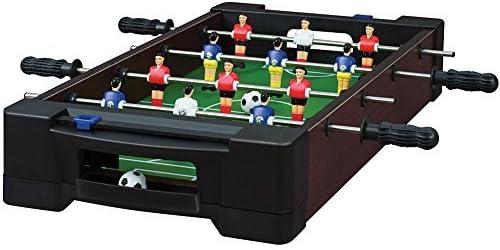 Juego) Mini – Juegos de mesa Futbolín de fútbol interior y una mesa de Air Hockey: Amazon.es: Deportes y aire libre
