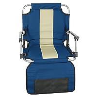 Stansport, asiento plegable con brazos para el estadio, azul (19- X17- X5.5 pulgadas)