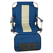 Stansport Folding Stadium Seat with Arms - (19- X17- X5.5-Inch)