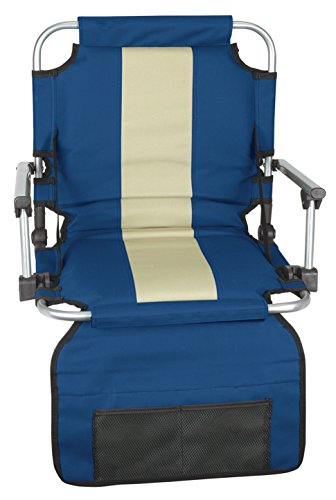 Stansport Folding Stadium Seat with Arms, Blue (19- X17- ()