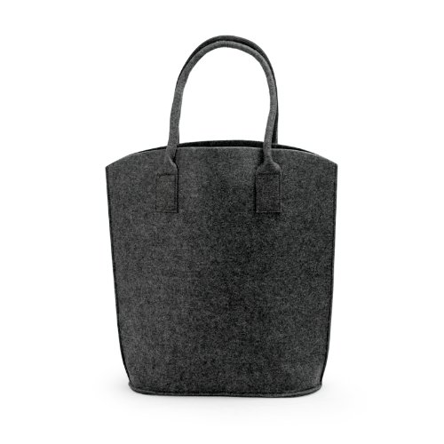 Lavievert Handmade Vintage Grey Felt Tote Handbag Shopping Hand Bag, Simple but Fashion, Environmentally Friendly