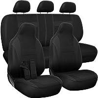 Motorup America Auto Seat Cover Full Set - Fits Select Vehicles Car Truck Van SUV - Black