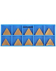 Accusize Industrial Tools Tpg322 Carbide Inserts, TiN Coated, 10 Pcs/Box, 2127-1028x10