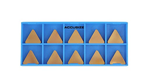 AccusizeTools - TPG322 Carbide Inserts TiN Coated 10 Pcs/Box, 2127-1028x10 by Accusize Industrial Tools