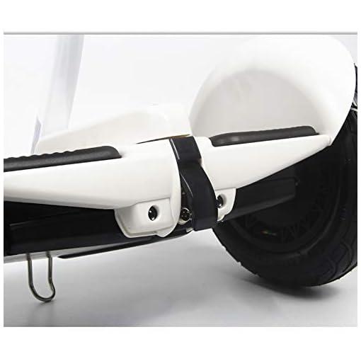 LXLTLB Hoverboard, Hover Scooter Board Bluetooth 6.5 Pouces, Scooter Electrique Moteur 350W Tout-Terrain, Self-Balance Board avec Roues LED Flash, pour Hommes Et Femmes,Blanc