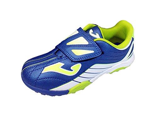 Joma TACTIL 404 Turf Klett Kinder Kunstrasen Schuhe Blau