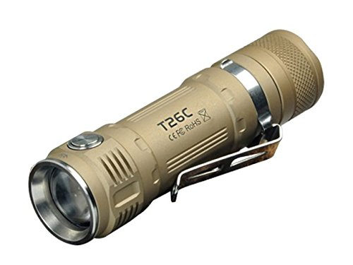 800 Champagne (Sunwayman T26C Ultra-Compact 18650 Flashlight 800 Lumens, Champagne T26C-CHAMPAGNE)