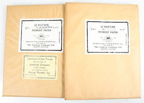 AUTOTYPE CARBON TISSUE PIGMENT PAPER 2 - 8X10 1/2 DOZEN VINTAGE UNOPENED PACKS by Vintage
