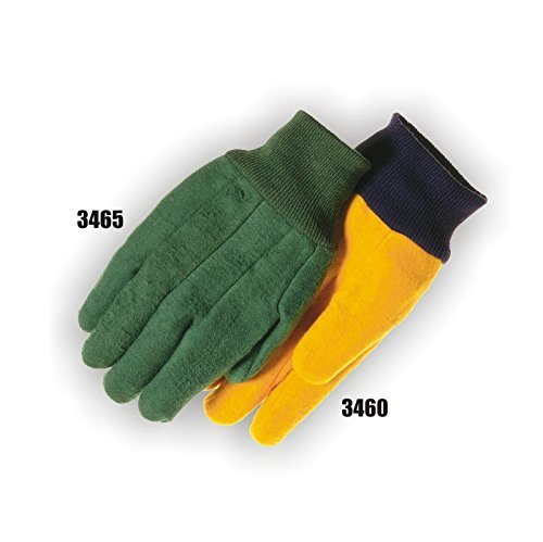 Majestic Glove 3465/10 Chore Glove, Large, Green (Pack of 12) - Chore Gloves Cotton