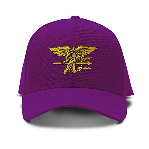 S bordado bordado Navy gorra SEAL béisbol de Militar sombrero ajustable U Púrpura ITqadwd