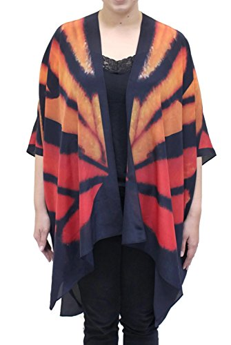Cocoon House - Women's Monarch Silk Long Kimono Jacket Oversized One Size Plus