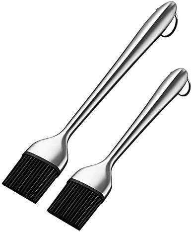 Takoyaki 2 Pcs Silicone BBQ Brosse Cuisine Brosse /À Huile /À Manche Longue Barbecue Grill Cuisinier Brosse /À Badigeonner P/âtisserie Brosse De Cuisson en Plein Air BBQ Accessoires